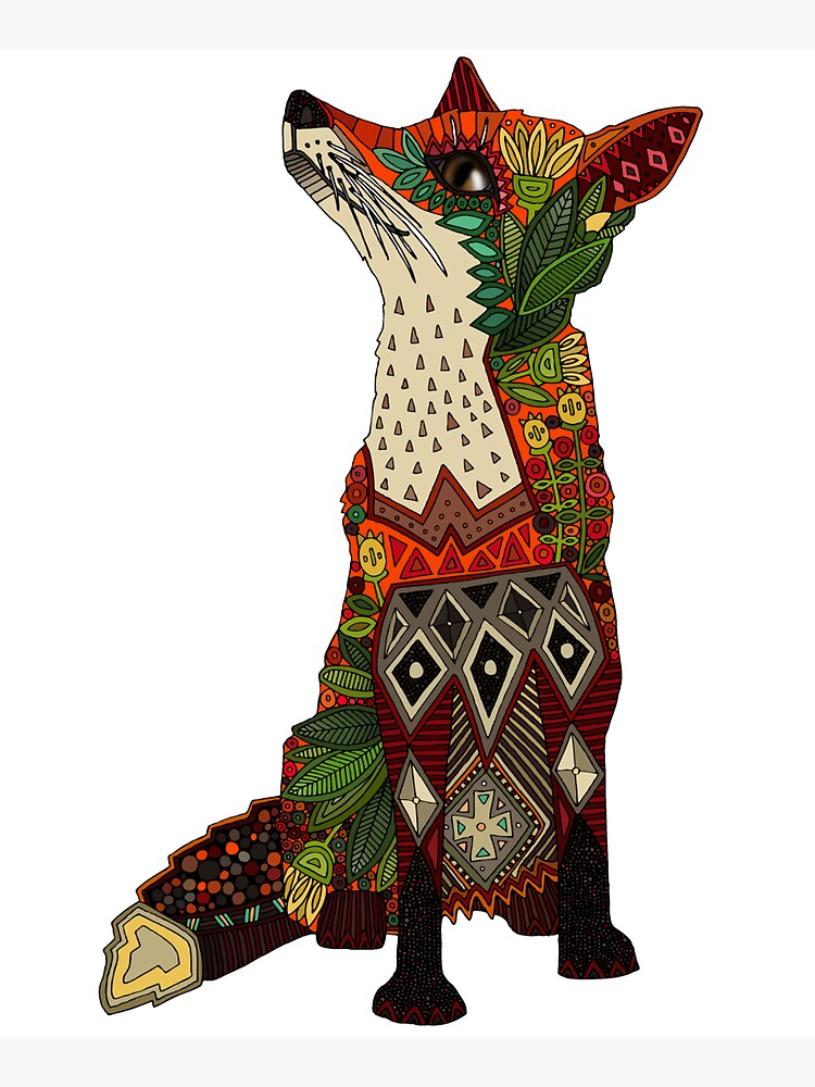 floral fox by scrummy