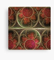 Never ending, fractal abstract art with circles Canvas Print