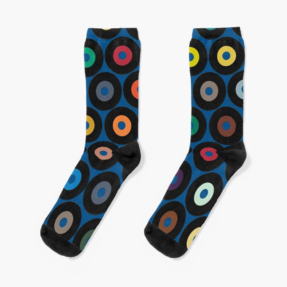 VINYL blue Socks