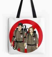 Ghostbusters Files - Mulder & Scully Tote Bag