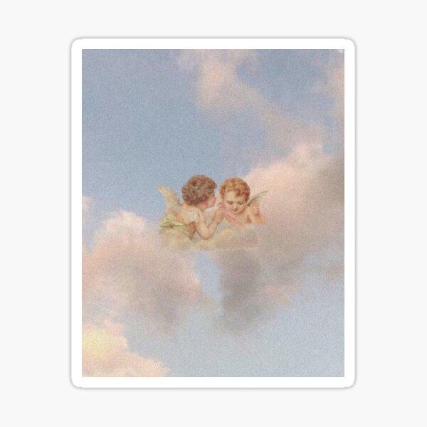 Anges Renaissance dans le ciel Chérubins Cupidon Sticker