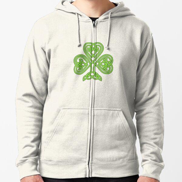 Green Clover Zipped Hoodie