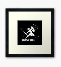 Wisdom Warrior - Spartan Stoic - Wisdom To Fight Framed Print