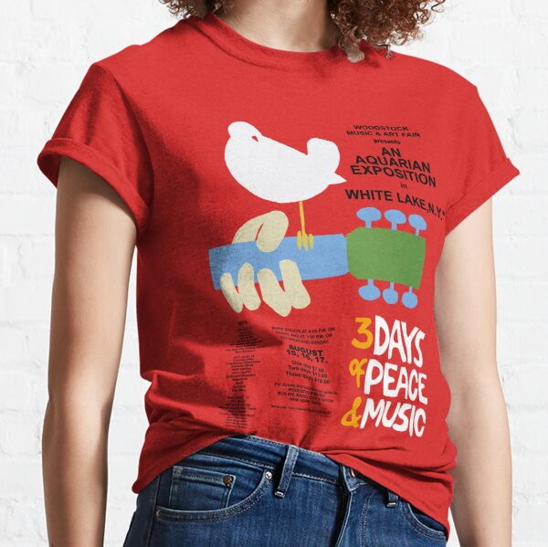 Woodstock Shirt, Sticker, Poster, Mask Classic T-Shirt