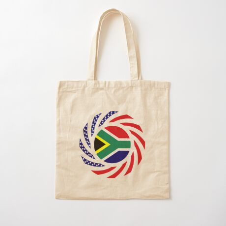 South African American Multinational Patriot Flag Series Cotton Tote Bag