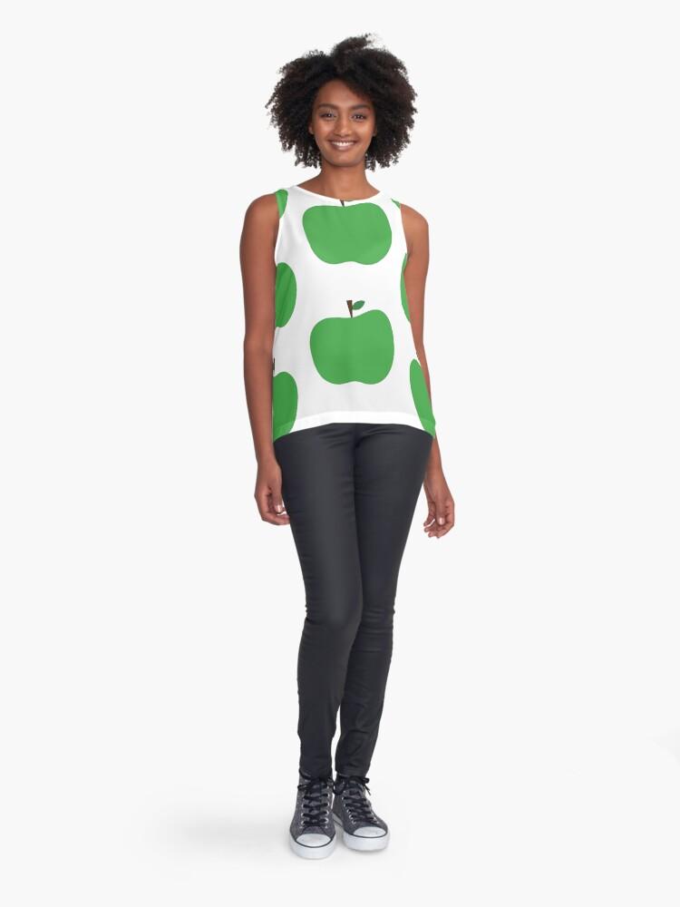 Alternate view of Green Apples Sleeveless Top