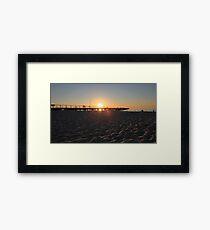 Semaphore Jetty Framed Print