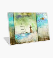 Ginkelmier Land ~ All You Need is Love and a Cat Laptop Skin