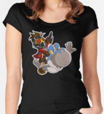 Super Jurassic Galaxy Women's Fitted Scoop T-Shirt