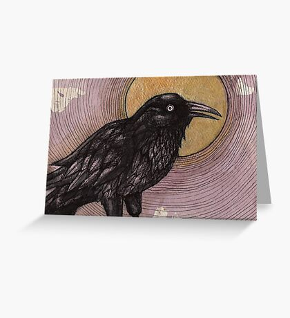 Tulugaq (Winter Raven) Greeting Card