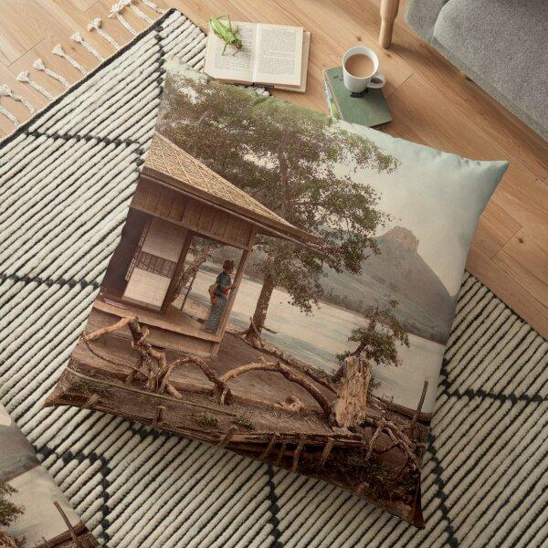 Haruna Lake tea house Floor Pillow