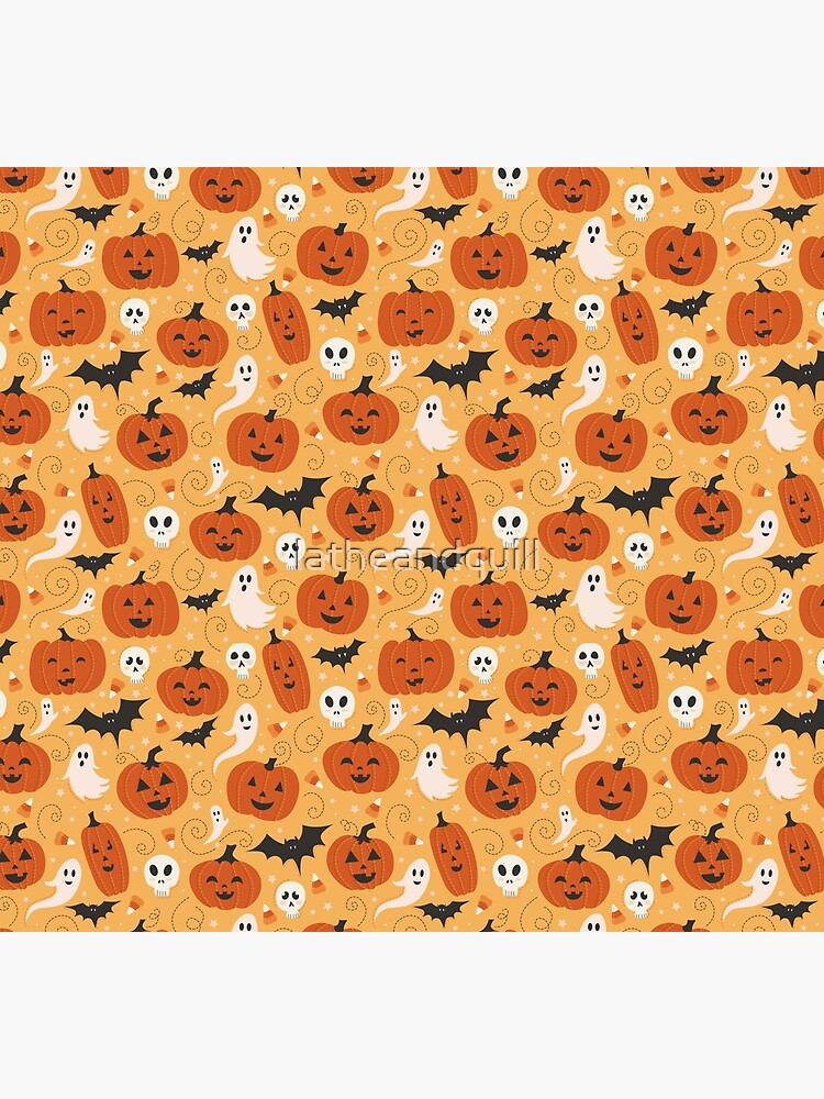 Pumpkin Party Pattern by latheandquill