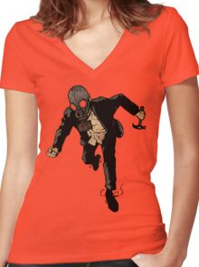 Always Tired/Never Tiring Women's Fitted V-Neck T-Shirt