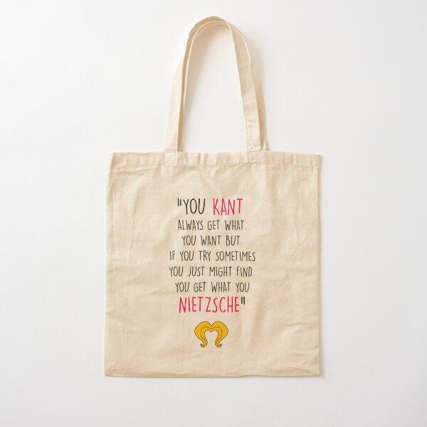 Hedwig, Kant & Nietzsche Cotton Tote Bag