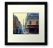 Eiffel Tower & Rue Saint Dominique Paris Framed Print