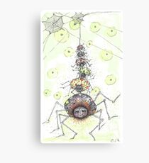 It's a SPIDER PARTY Canvas Print