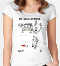 Time Machined. Women's Fitted Scoop T-Shirt