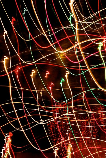 Suburb Christmas Light Series - Xmas 3hree by David J. Hudson