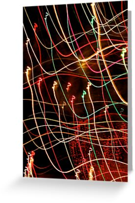 Suburb Christmas Light Series - Xmas 3hree by David J. Hudson