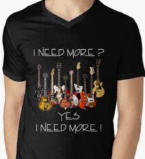 Wonderful Need More Guitars Men's V-Neck T-Shirt