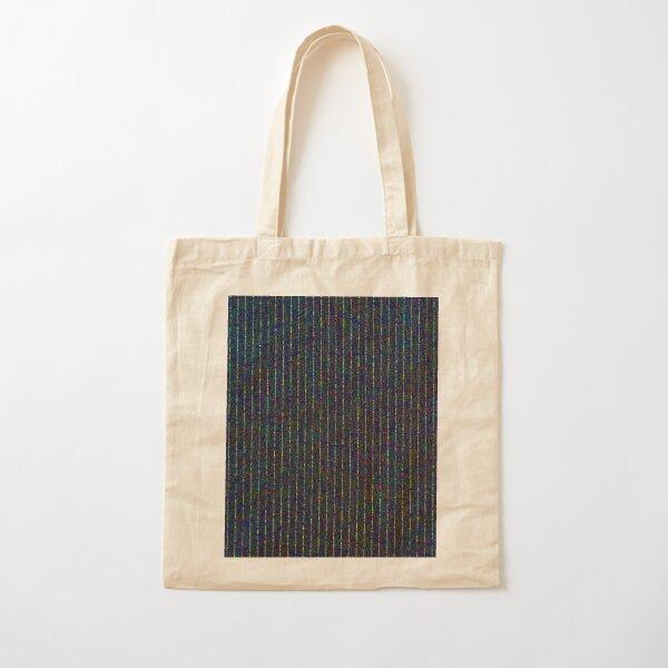 dotty pinstripe Cotton Tote Bag