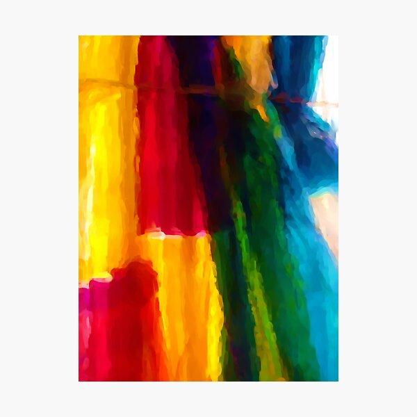 Rainbow Wall Photographic Print