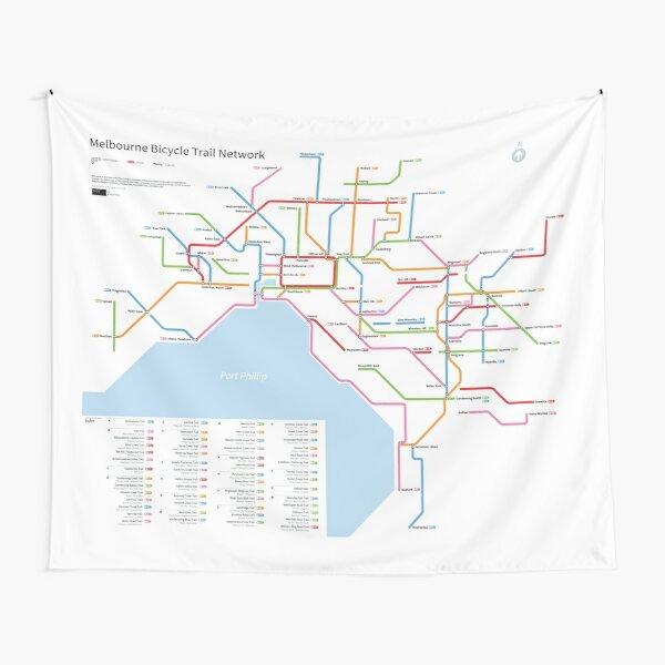 Melbourne Bicycle Network Map Tapestry