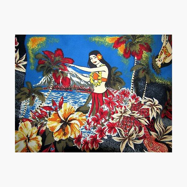 Vintage Hawaiian Print Photographic Print