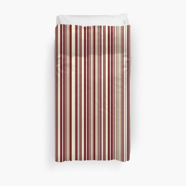 Burgundy Pinstripe Duvet Cover