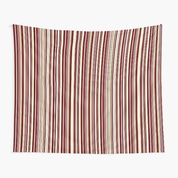 Burgundy Pinstripe Tapestry