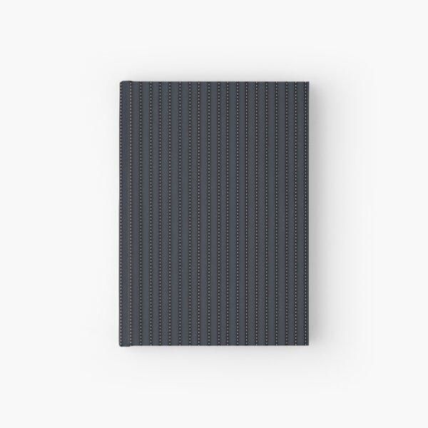 Grey Pinstripe pattern Hardcover Journal