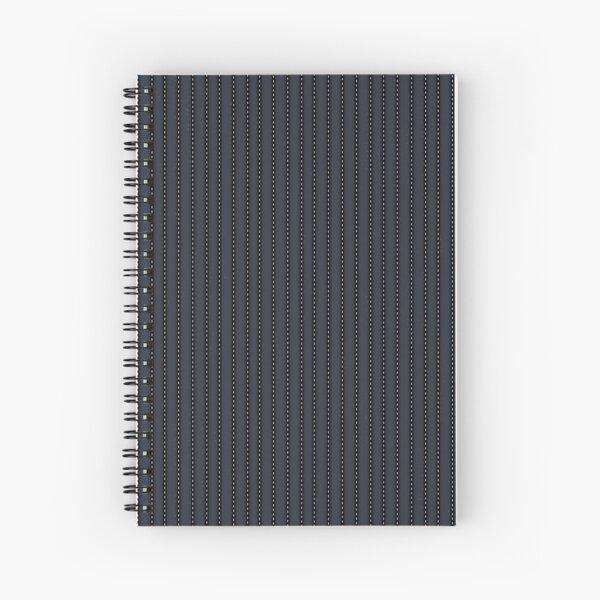 Grey Pinstripe pattern Spiral Notebook