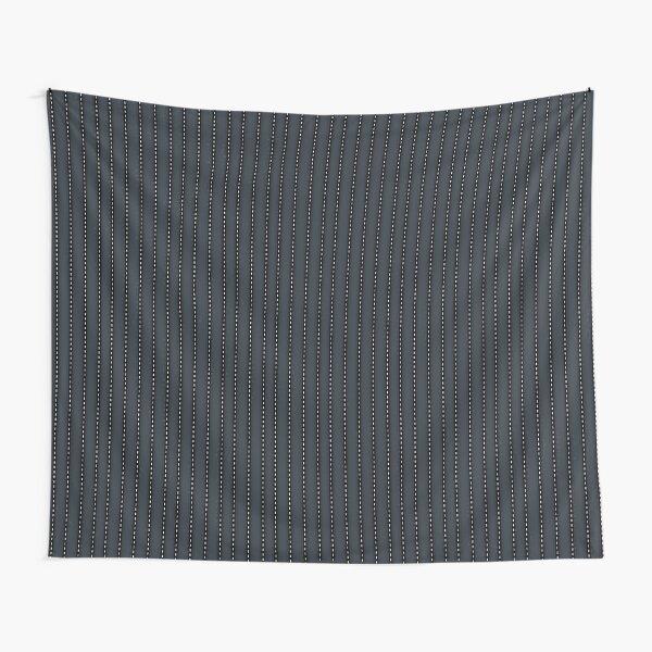 Grey Pinstripe pattern Tapestry