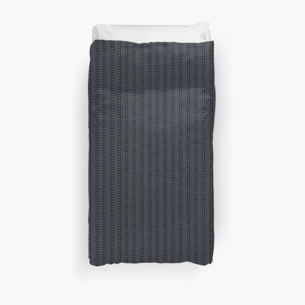 Grey Pinstripe pattern Duvet Cover