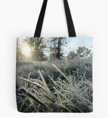 Blades of Frosted Wild Grass Tote Bag