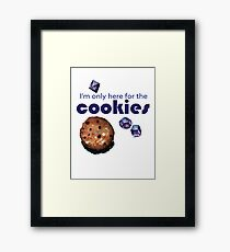 I'm only here for the cookies and dice - purple Framed Print