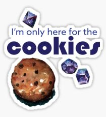 I'm only here for the cookies and dice - purple Sticker