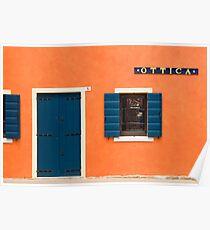 Colourful House Facade, Caorle, Italy Poster