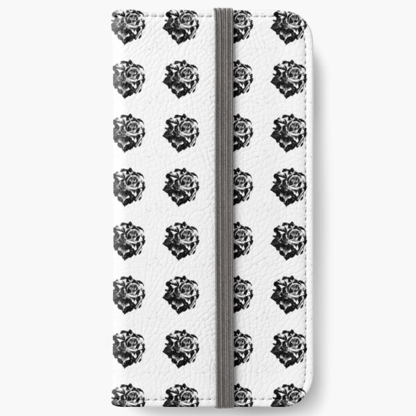 Rose black and white pattern bywhacky iPhone Wallet
