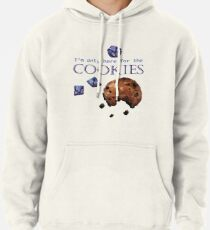 I'm only here for the cookies and dice - purple Pullover Hoodie