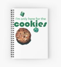 I'm only here for the cookies and dice Spiral Notebook