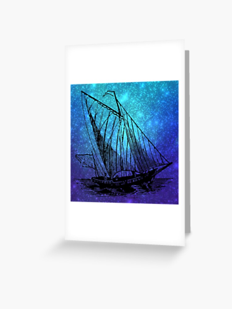 Cold Press Watercolor Paper Sailing On a Starry Night5 Greeting Cards with Envelopes5X710 Postcards4X61 Framable Picture8X10140 lb
