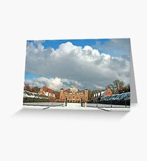 Winter at Blickling Hall Greeting Card