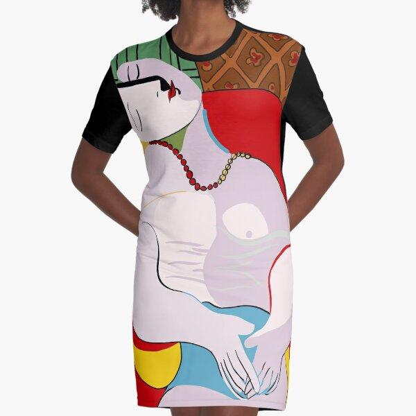 Picasso's Dream Graphic T-Shirt Dress