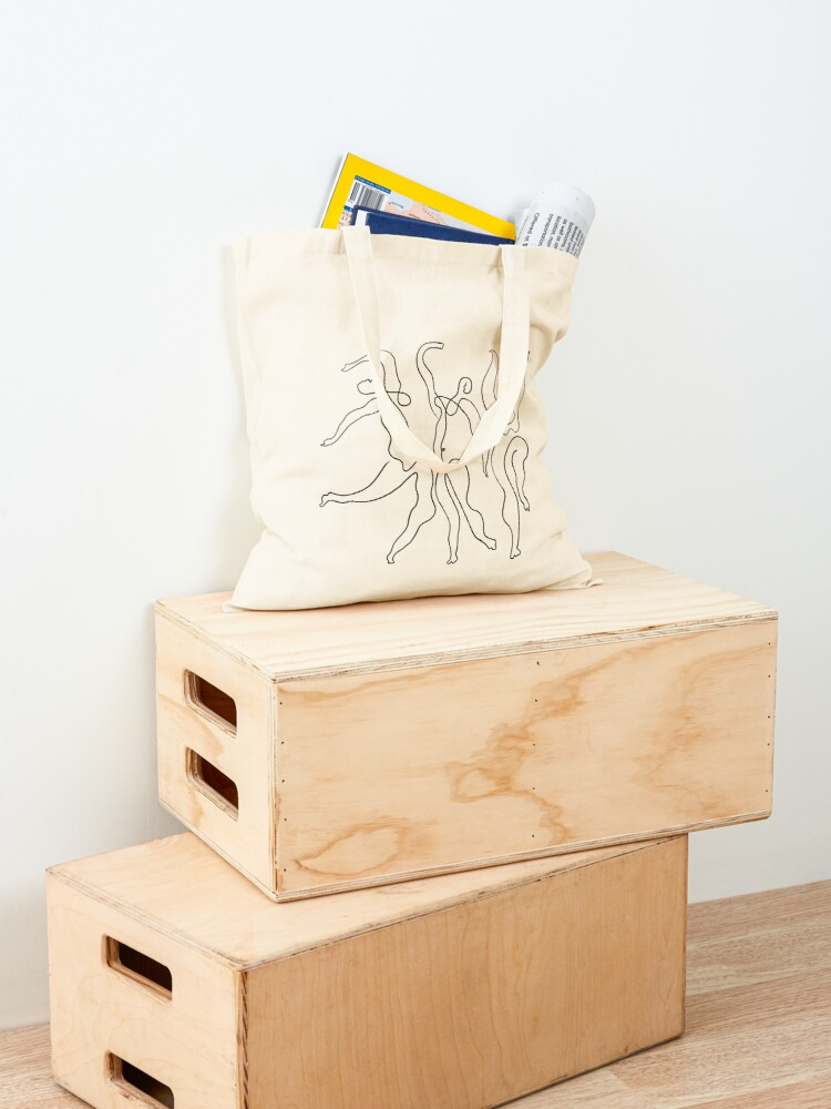 Alternate view of Picasso Line Art - Dancers Tote Bag