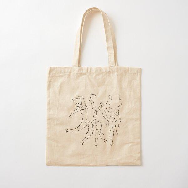 Picasso Line Art - Dancers Cotton Tote Bag