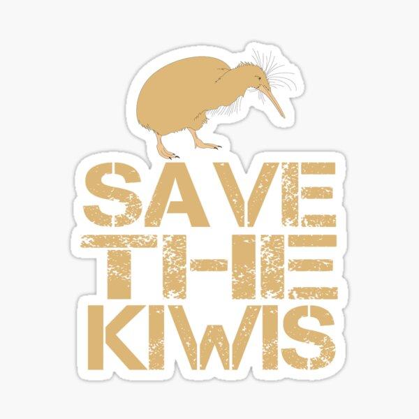 Save The Kiwis New Zealand Bird Sticker