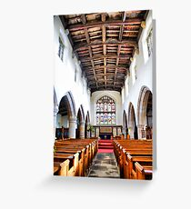 St Oswald's Church Interior ~ Askrigg ~ Greeting Card