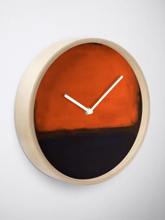 Alternate view of Rothko Inspired #18 Clock