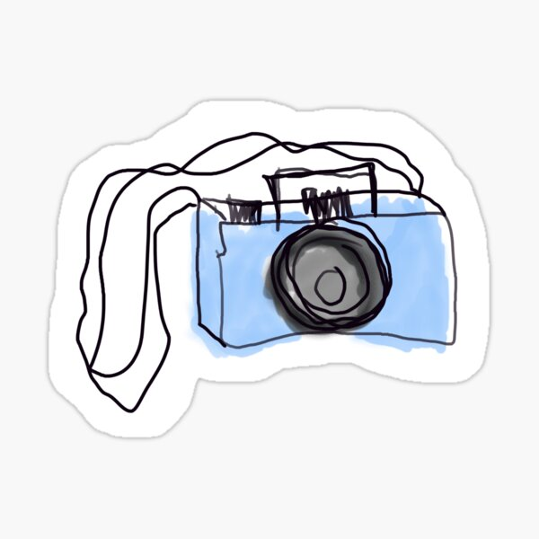 Camera Doodle Stickers Redbubble